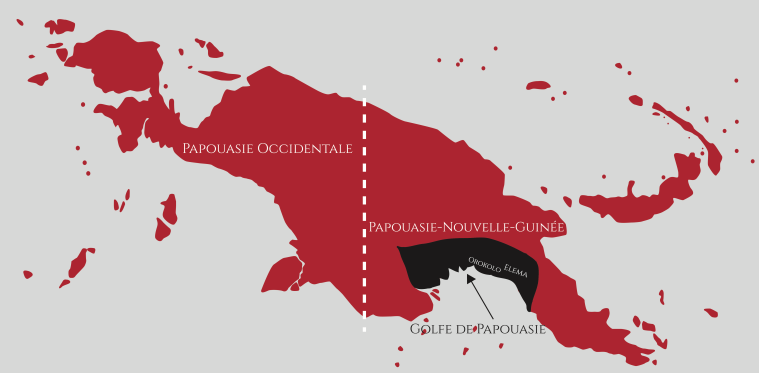 Carte Golfe de Papouasie
